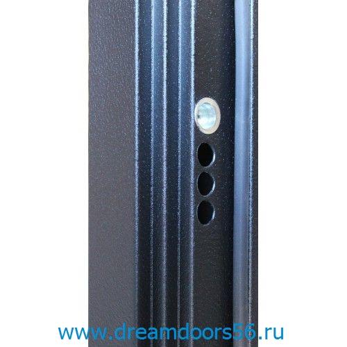 Входная металлическая дверь Трио серебро