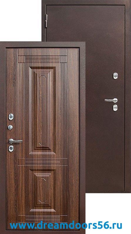 Входная уличная дверь Тайгер Термо статус коньяк
